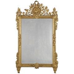 Louis XVI Style Carved Giltwood Mirror, circa 1890