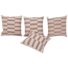 Cushion Covers Fashioned from a Midcentury Turkish Wool and Cotton Kilim