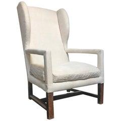 17th Century Italian Walnut Armchair Wing Chair