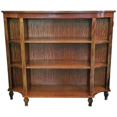 Pair of Sheraton Style Open Bookcases