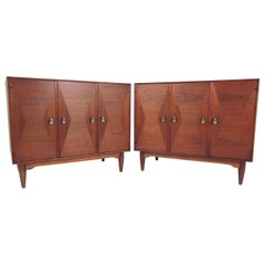 Pair of Danish Modern Teak Storage Cabinets