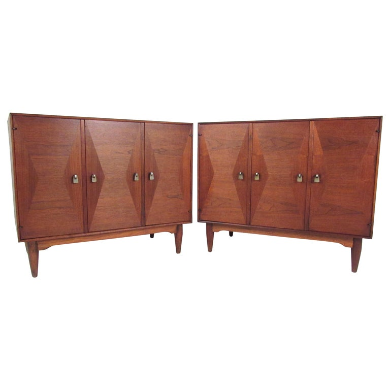 Pair of Danish Modern Teak Storage Cabinets