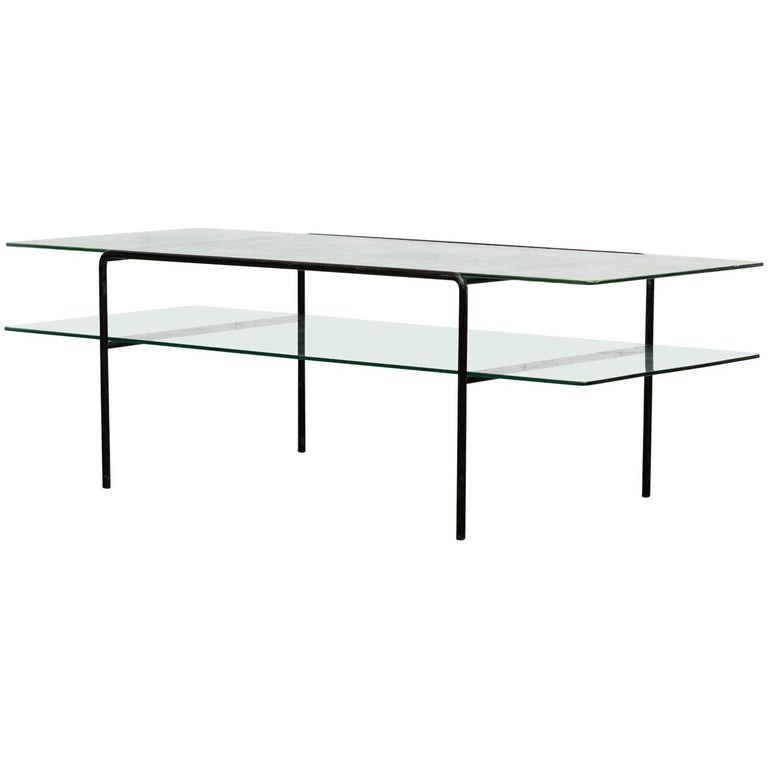 Rare A.R. Cordemeyer 2 Tiered Coffee Table for Gispen