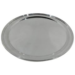 Kirk Plain and Practical Sterling Silver Round Serving Tray