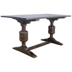 Antique Dark Oak Refectory Table