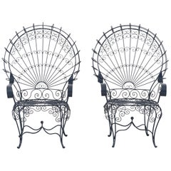 Set of Salterini Peacock Chairs