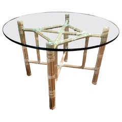 McGuire Leather Wrapped Bamboo Table