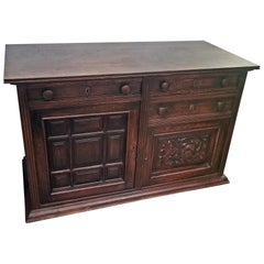 19th Century English Oak Cabinet of Nice Proportions