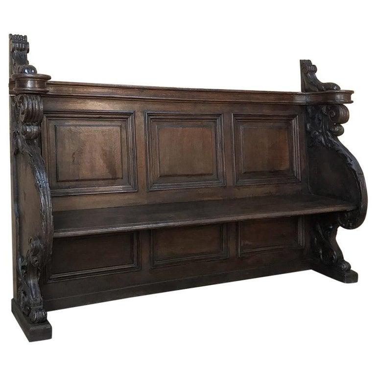 18th Century Baroque Hall Bench