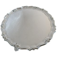 English, Sterling Silver Round Footed Tray