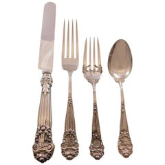 Georgian by Towle Sterling Silver Flatware Set for 8 Service 32 Pieces Vintage