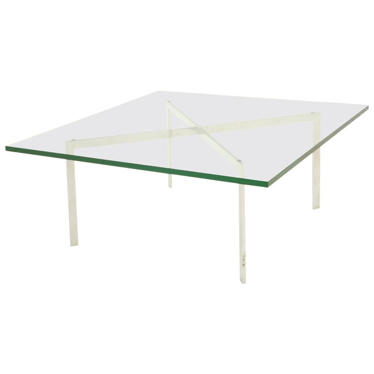 Rare Pre Knoll Production Barcelona Coffee Table by Mies van der Rohe, 1955
