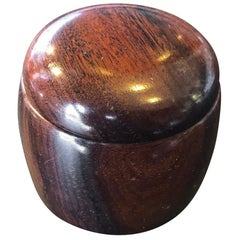 Small Bonewood Hand-Carved Box with Lid by Richard Thoday