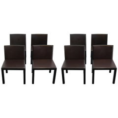 Set of 8 Italian Dining Chairs by Altherr Molina for Aspen Asper Spa
