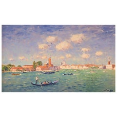 Niek Van Der Plas, Venise, Oil on Canvas