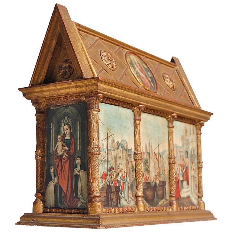 Rare Miniature Replica of Sint Ursula Shrine, Mid-20th Century For Sale