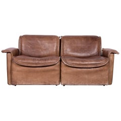 De Sede DS 12 Designer Sofa Brown Leather Couch