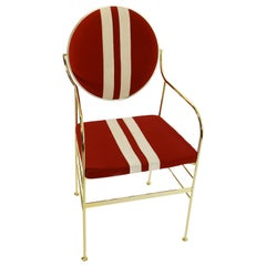 Luigina Gold Black Sport Chair Made in Italy
