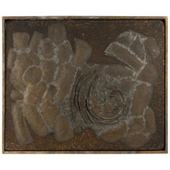 Mixed-Media Abstract, Signed Nelson, Dated 1962 on Verso