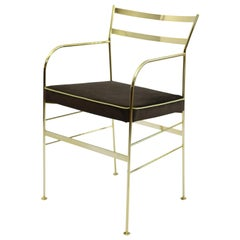 Paul Gold Chocolate Chair Made in Italy