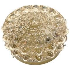 Petite Bubble Glass Pattern Limburg Flush Mount Ceiling Light, 1960s