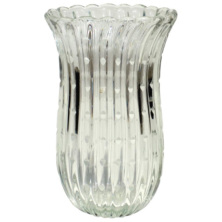 1930s Art Deco by Barovier Murano Glass Vase