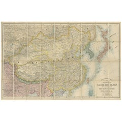 Antique Map of China and Japan by E. Stanford, 1900
