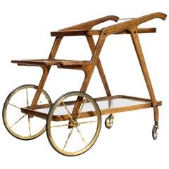 1950s Italian Design Midcentury Bar Cart Trolley