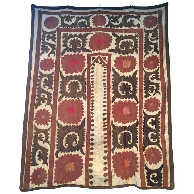 Vintage Suzani Uzbek Textile Wall Hanging