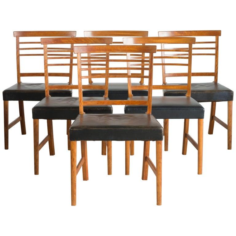 Ole Wanscher Set of Six Chairs for a. J. Iversen
