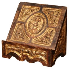 Mid-19th Century Italian Carved Giltwood Holy Bible Book Stand Holder