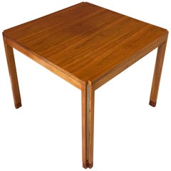 Edward Wormley for Dunbar Walnut Side Table with Rosewood and Aluminium Accents