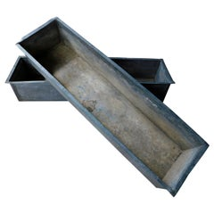 Pair of  French Zinc Window Box Planters