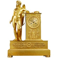 Early 19th Century Empire Period Gilt Bronze Mantel Clock, Paris by Ledure