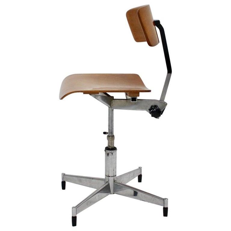 Mid-Century Modern Swiveling Desk Chair by Jorgen Rasmussen 1950s Denmark