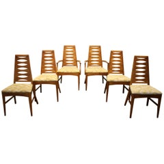 Mid-Century Modern Brasilia Style Dining Chairs by Young Mfg., Set of 6