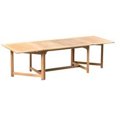 "Børge Mogensen Oak Wood Rectangular Scandinavian Folding Table ""Oresund"", 1950s"