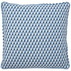 Schumacher Frank Lloyd Wright Design 107 Blue Two-Sided Linen Pillow