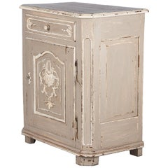 French Louis XIV Painted Oak Confiturier Cabinet, 18th Century