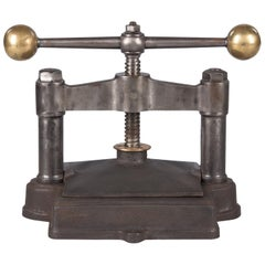 French Cast Iron Book Press, Early 1900s
