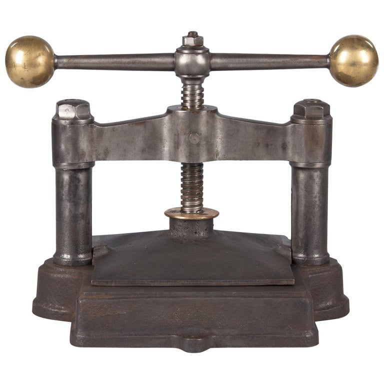 French Cast Iron Book Press, Early 1900s For Sale