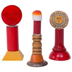 Three Dick Seeger Lollipop Sculptures
