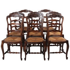 Set of Eight Ladder-Back Chairs