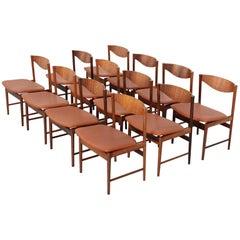 Dining Chairs '12' by Ib Kofod-Larsen for Seffle Möbelfabrik, Sweden, 1950s