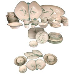 Collection of Winfield California Green Bamboo Dinnerware