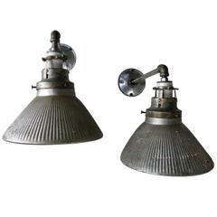 Pair of 1920 Mercury X-Ray Wall-Mounted Lights by Curtis Lighting Co.
