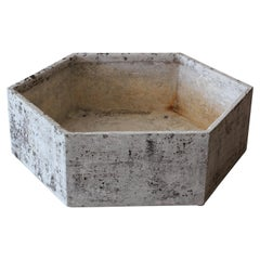 Large Willy Guhl Hexagon Planter