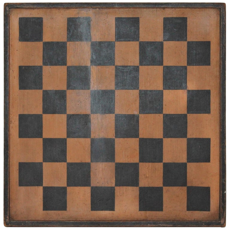 Gameboard Double-Sided 19th Century Original Paint