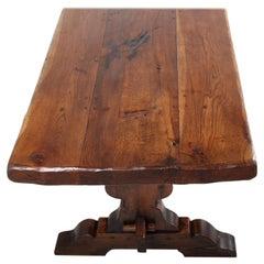 French Plank Oak Trestle Table C-GD