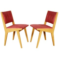 Pair of Jens Risom Side Chairs for Knoll